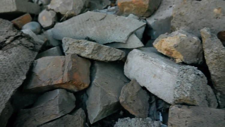 Heap Of Construction Rubble : Stock Video