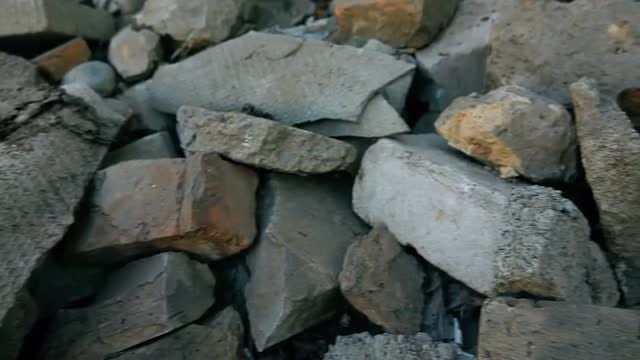 Heap Of Construction Rubble : Stock Video