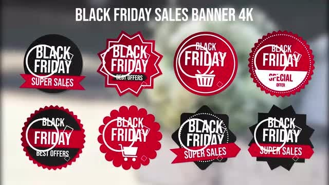 Black Friday Sales Banner 4k: After Effects Templates