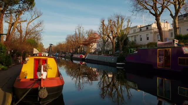 Little Venice in London, UK: Stock Video