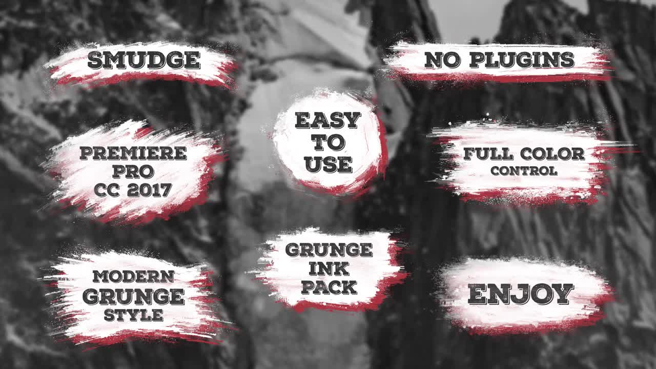 Grungy Smudge Titles - Premiere Pro Templates 85747