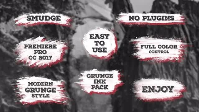 Grungy Smudge Titles: Premiere Pro Templates