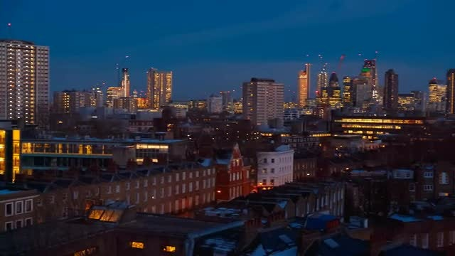 City Of London Skyline, England UK: Stock Video