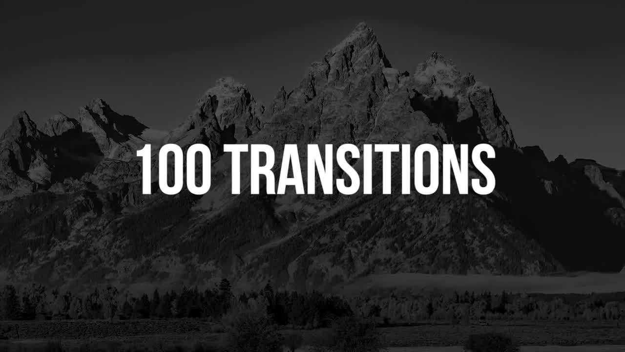 100 Transitions - Premiere Pro Templates 85775