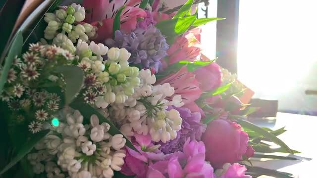 Rotating Bouquet Of Flowers: Stock Video