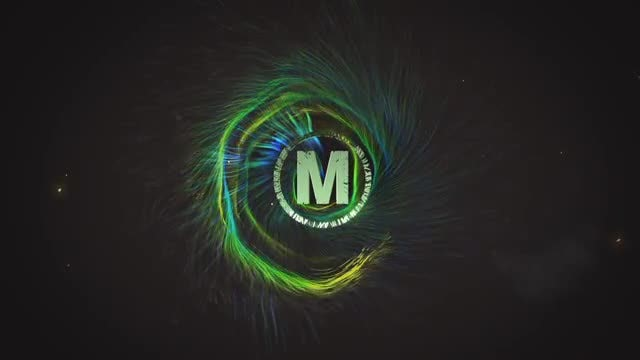 Spiral Particles Logo: After Effects Templates