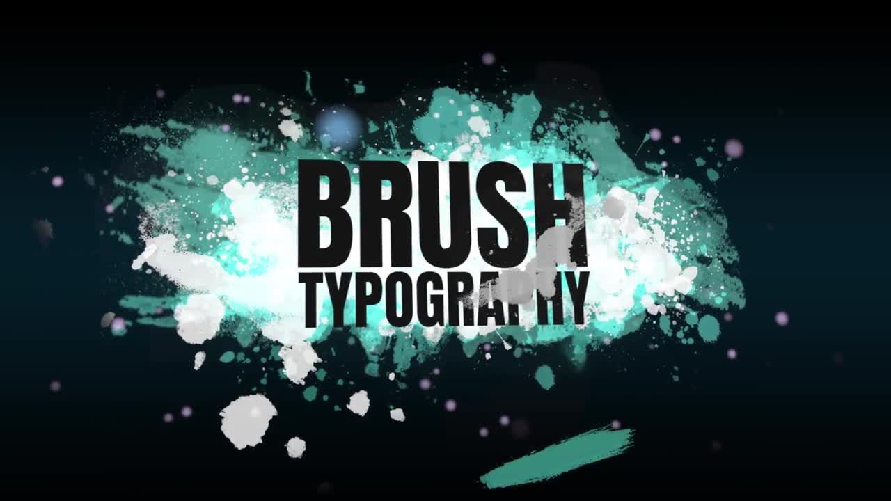 Brush Typography - Premiere Pro Templates 85807