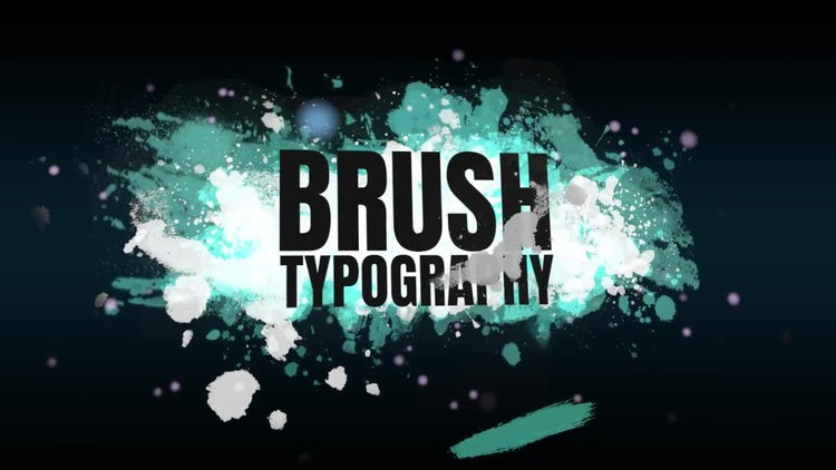 Brush Typography: Premiere Pro Templates