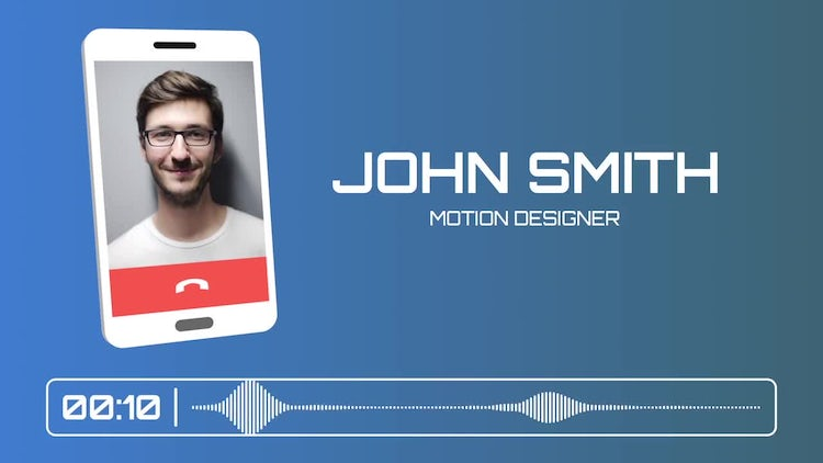 Phone Call Interview: After Effects Templates