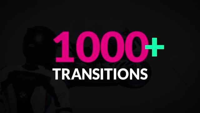1000+ Transitions Mega Collection Pack: Stock Motion Graphics