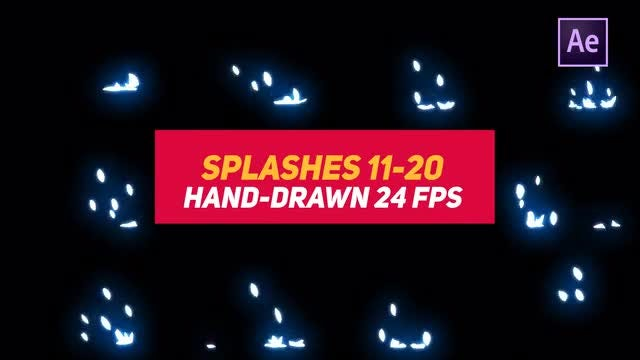 Liquid Elements 2 Splashes 11-20: After Effects Templates