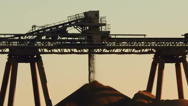 Close-up View Of Cement Production : Stock Video