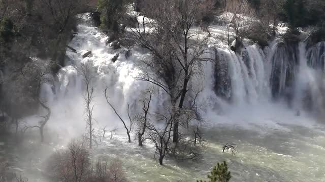 Wide Shot Of Kravice Waterfall: Stock Video