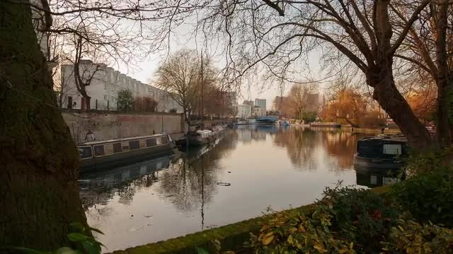 Little Venice in London, England, UK: Stock Video