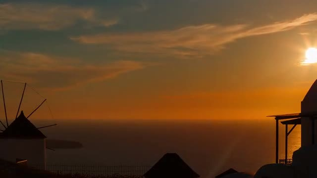 Sunset In The Mediterranean: Stock Video
