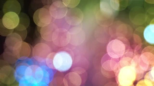 Colored Holiday Bokeh Lights: Stock Video
