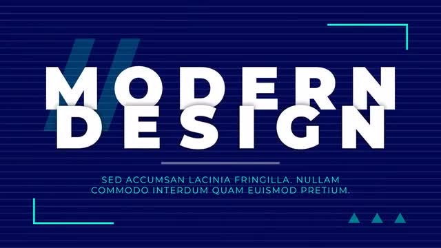 Creative Modern Typography: After Effects Templates