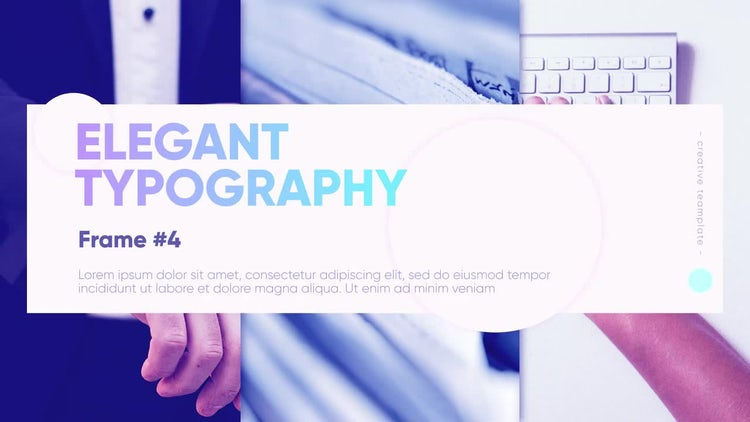 Modern Typo Opener: After Effects Templates