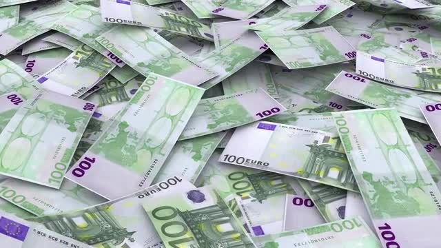 Euro Currency Infinite Pile: Stock Motion Graphics