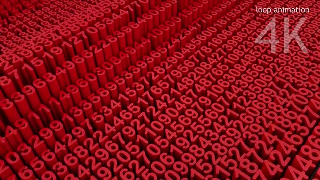 Numbers Loop Backround: Stock Motion Graphics