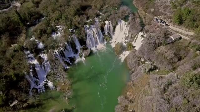 Cinematic Waterfals Aerial: Stock Video
