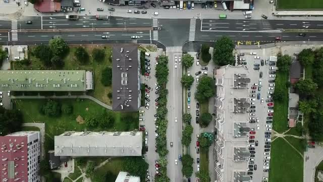 City Streets Aerial View : Stock Video