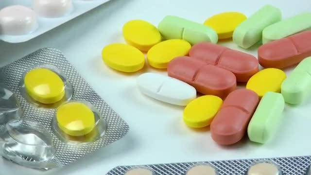 Colored Prescription Pills And Tablets : Stock Video