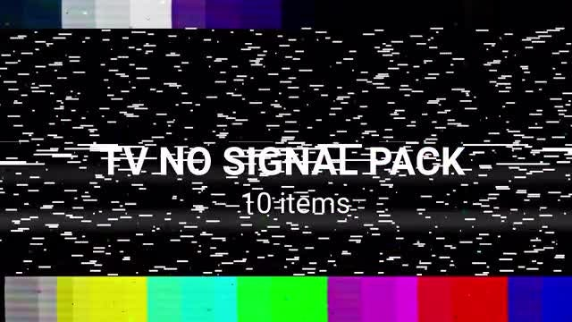 No Signal TV Pack: Stock Motion Graphics