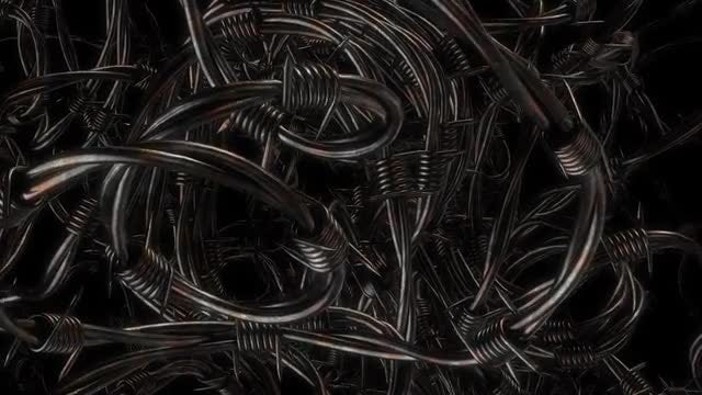 Barbed Fence VJ Loop: Stock Motion Graphics