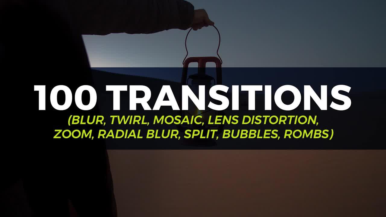 100 Transition Pack - Premiere Pro Templates 86143