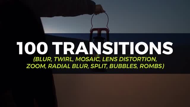 100 Transition Pack: Premiere Pro Templates