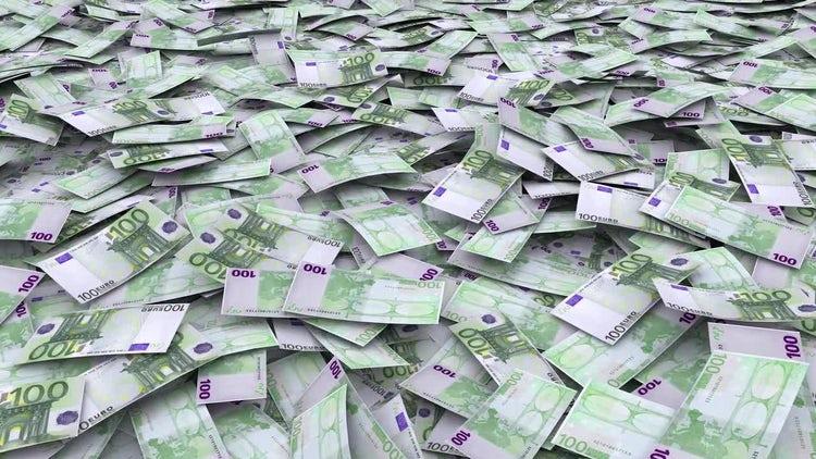 Falling Euros: Stock Motion Graphics