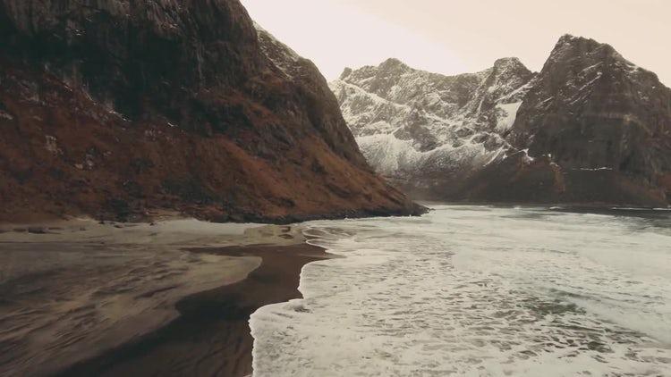 Beautiful Archipelago In Winter: Stock Video