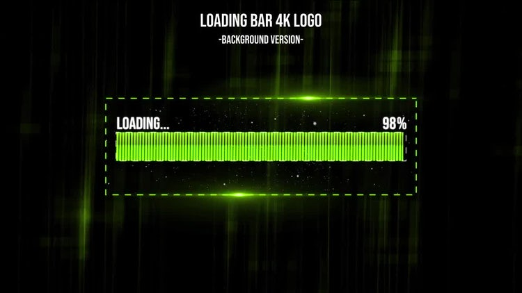 Loading Bar 4k Logo: After Effects Templates