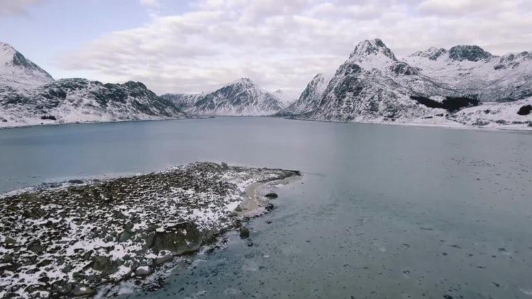 Norwegian Archipelago In Winter: Stock Video