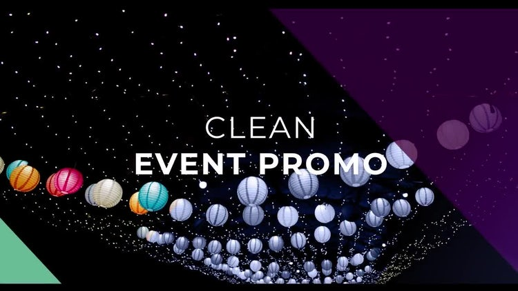 Clean Event Promo Slideshow: After Effects Templates