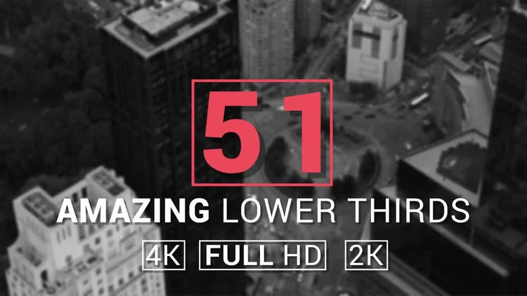 51 Amazing Lower Thirds: After Effects Templates