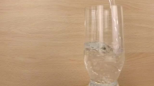 Clear Water Filling Glass: Stock Video
