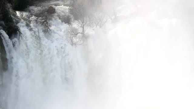 White Waterfall: Stock Video