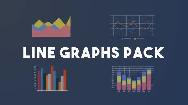 Line Graphs Pack: After Effects Templates