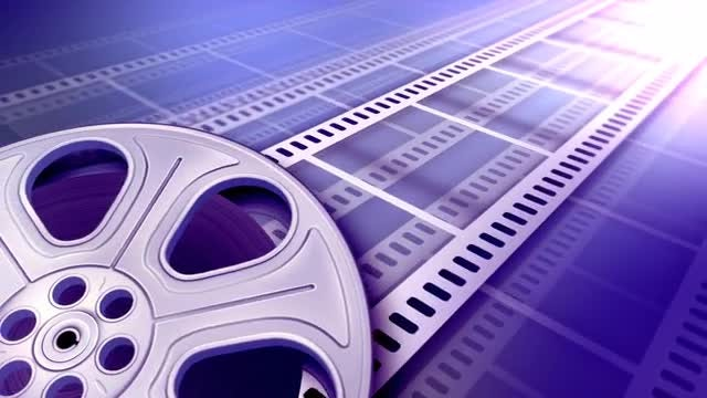 Film Reel Background: Stock Motion Graphics