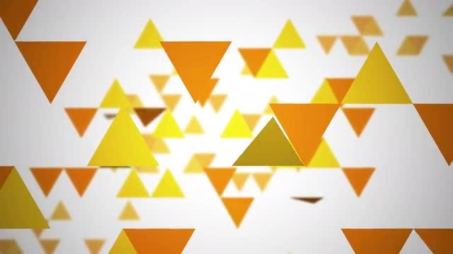 Yellow-Orange Triangles: Stock Motion Graphics