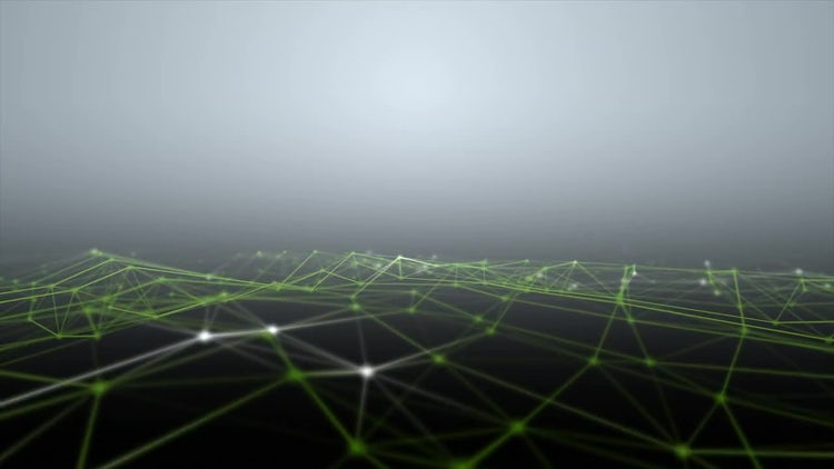 Green and White Network Wave: Stock Motion Graphics