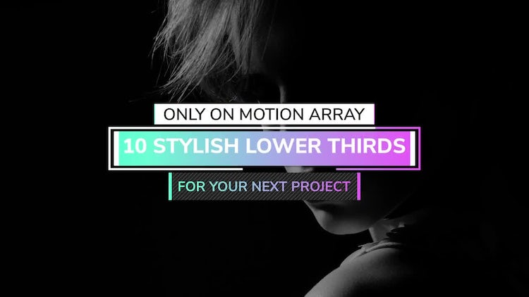 4K Modern Lower Thirds - Essential Graphics: Motion Graphics Templates