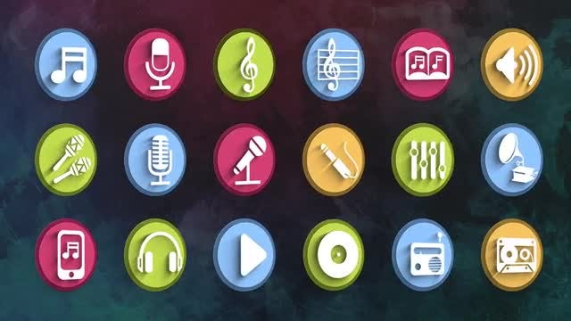 Ultimate Music Icons Pack: Stock Motion Graphics