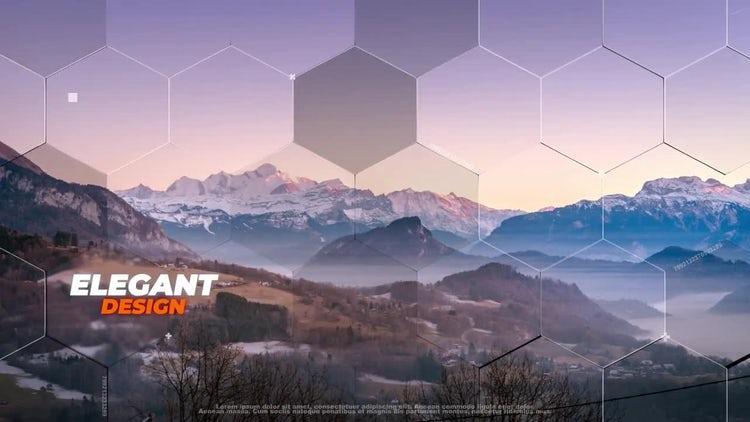 Hexagon Slideshow: After Effects Templates