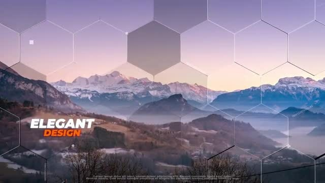Hexagon Slideshow: After Effects Templates