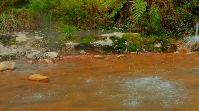 Thermal Water In The Azores: Stock Video