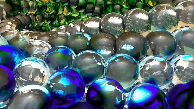 Rotating Chain of Glass Spheres: Stock Motion Graphics