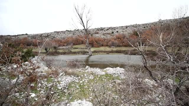 Beautiful Small Mountain Lake: Stock Video